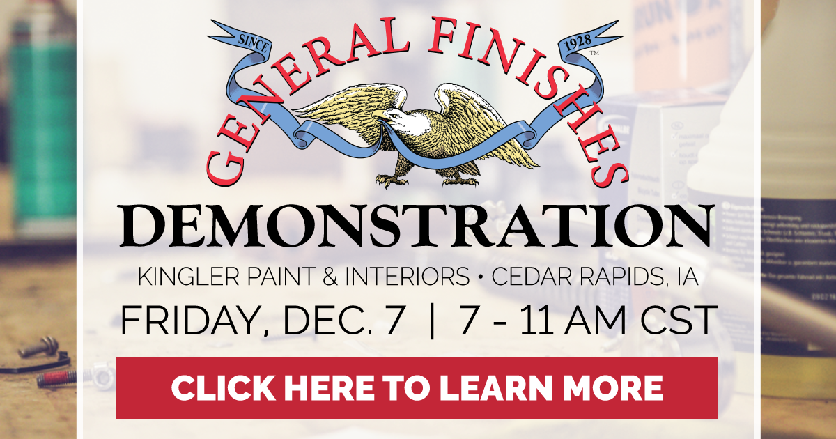 Gf Demo At Klinger Paint And Interiors In Cedar Rapids Ia General Finishes University