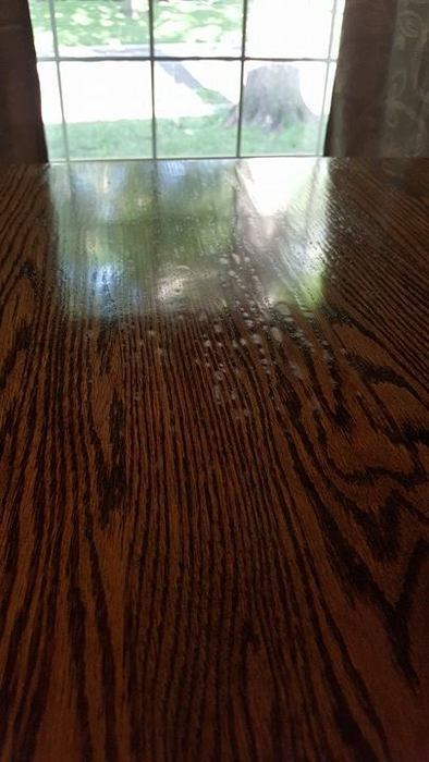 Arm-R-Seal blotching on table surface