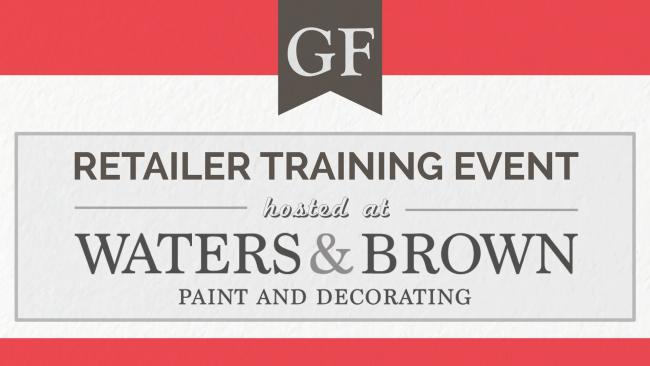 GF Retailer Training Event Hosted by Waters & Brown on Tuesday, Dec. 4, 2018 in Salem, MA