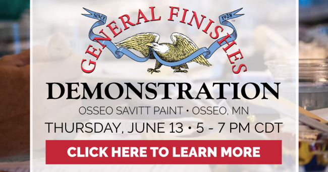 General Finishes Product Demonstration at Osseo Savitt Paint in Osseo, MN on Thursday, June 13, 2019 from 5 PM to 7 PM