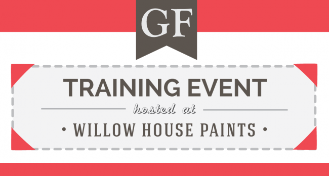General Finishes Retailer Training Event At Willow House Paints in Gilbertsville, PA on Thursday, May 23 from 10 a.m. to 4 p.m.