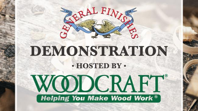 General Finishes Demo at Woodcraft of Milwaukee in New Berlin, WI on Friday, September 13, 2019 from 6 pm to 8 pm